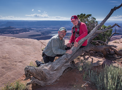 Dan and Kate at Dead Horse Point National Park, outside of Moab, Utah.