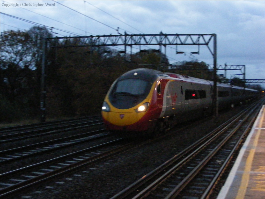 A Pendolino shoots past