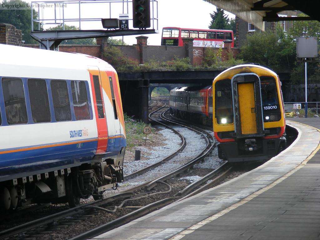 Weymouth and Waterloo trains