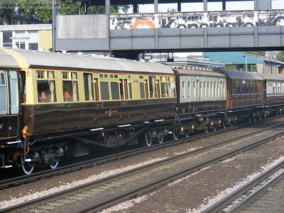 Some of the veteran carriages in use on the special train