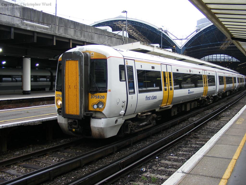 375820 on an Orpington train