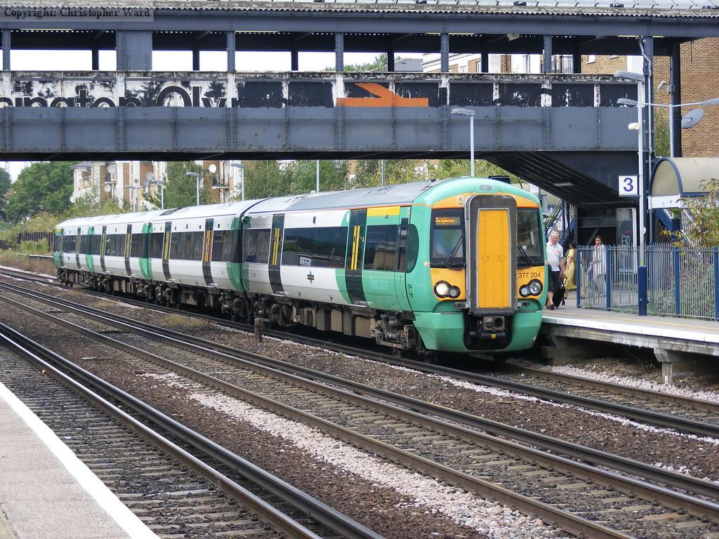 377204 on a Watford to Brighton service