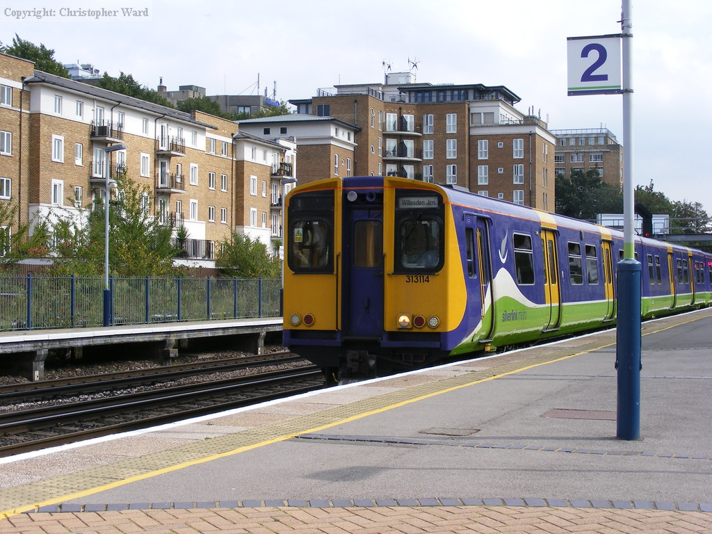 The Willesden service formed of 313114