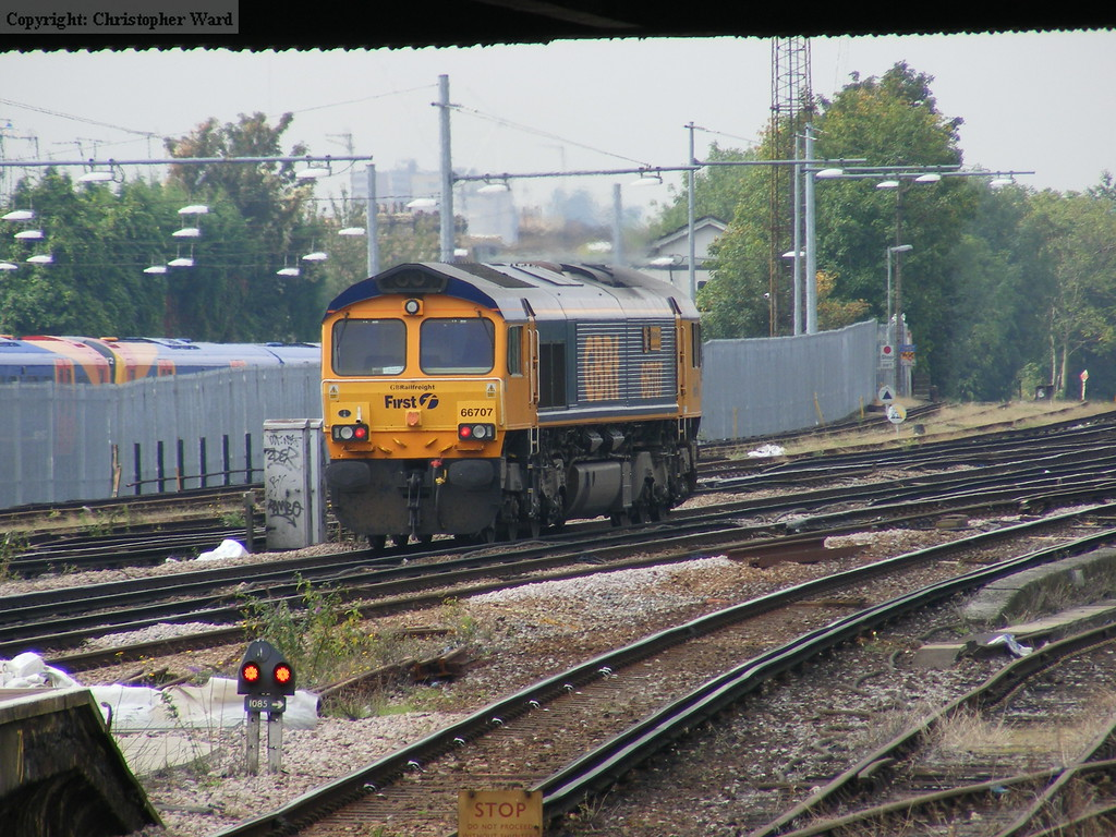 A GBRf 66 heads away from Clapham