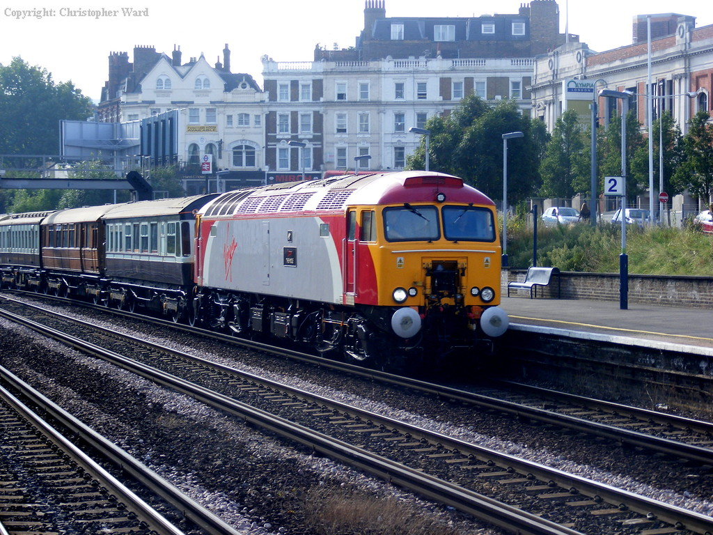 The Queen of Scots with a couple of Virgin class 57s on a Chester excursion