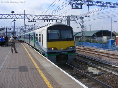 A local train arrives
