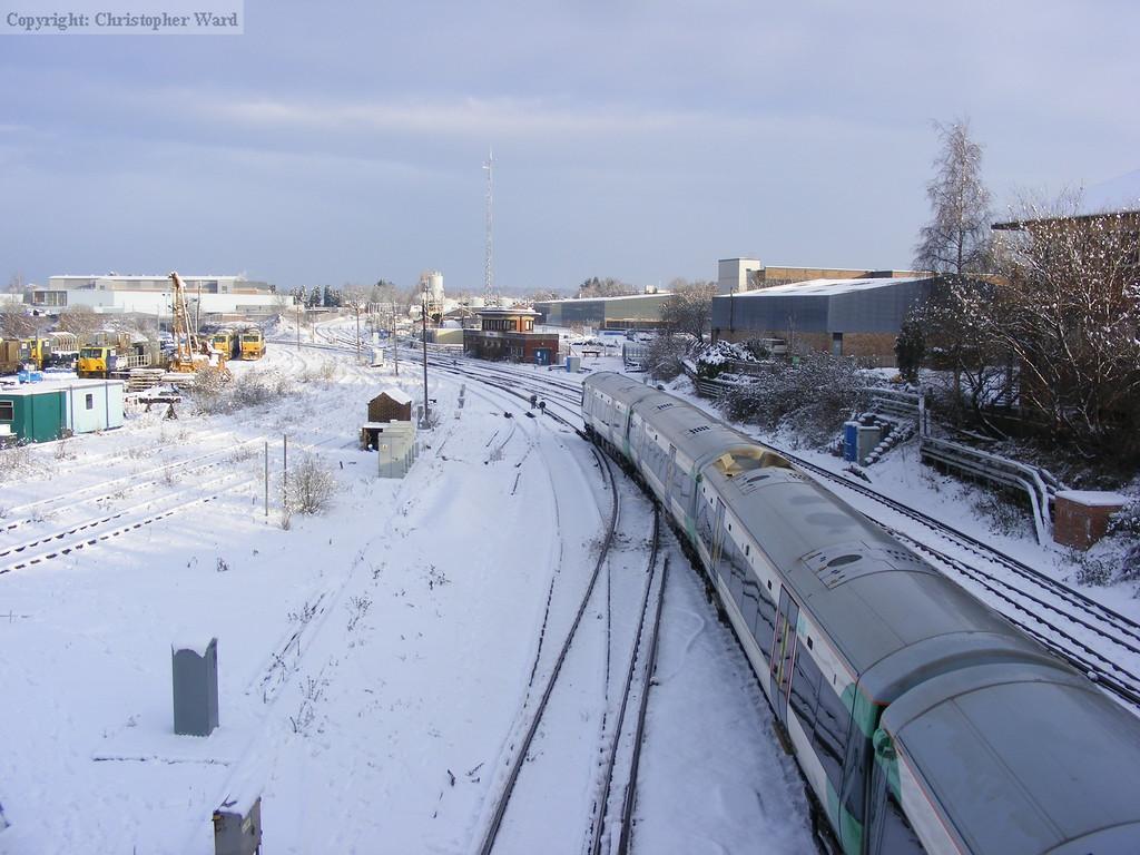 A London train leaves