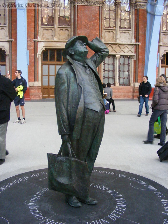 The statue of John Betjeman