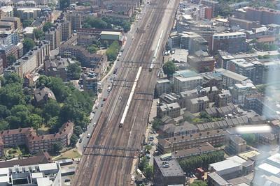 Southern and Southeastern trains approach London Bridge
