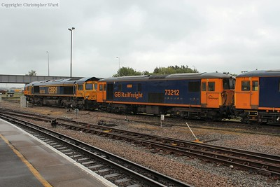 The GBRf contingent in the yard