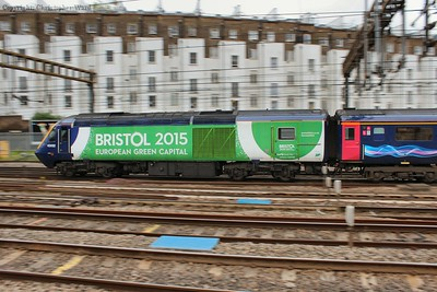 43132 in the Bristol Green Capital livery