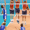 Matt Anderson, Max Holt, and Sean Rooney combine for the triple block