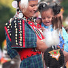 Powwow dancer, women's traditional.