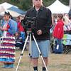 Documenting the powwow.