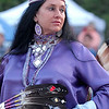 Powwow dancer, women's traditional.