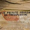 Vandalized pictograph, Utah