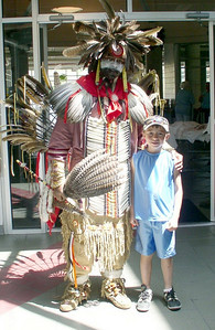 Grandson with Pow Wow dancer