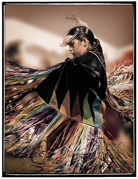 Fancy Shawl dancer, 2008 Malibu Chumash Intertribal Powwow.