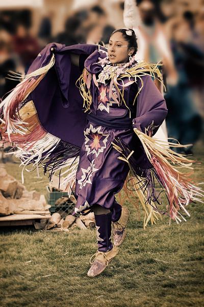 Fancy Shawl Dancer, Chumash Powwow, Malibu, 2006.