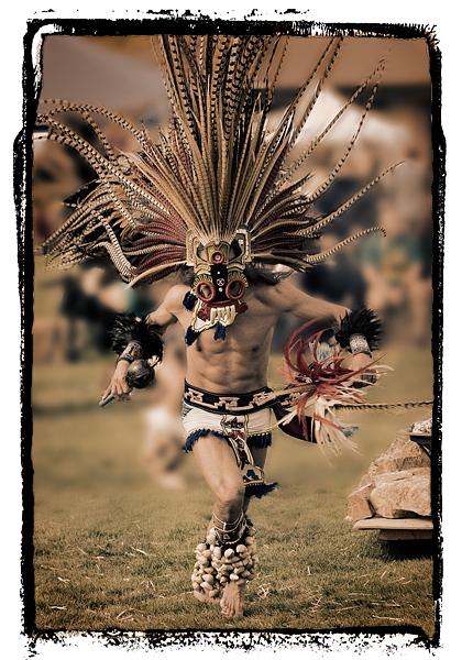 Aztec Dancer, Chumash Powwow, Malibu, 2006.