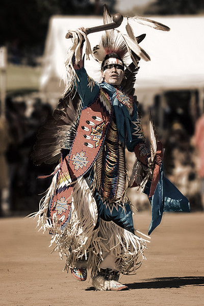 Chumash Intertribal Pow Wow, Live Oak Park, 2008. Dancer: Ardell Scalplock - Siksika, Sacremento, CA. Northern Traditional Dancer.