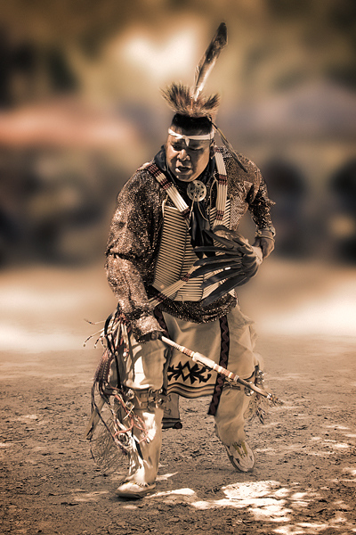 Intertribal Powwow, Chumash Indian Museum, 2008. Dancer: David Patterson, Sac/Fox, Southern Straight Dancer.