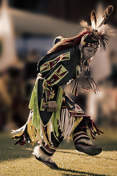 Gregory Whitehorse, Apache, Grass Dancer. Cal State Pow wow, 2009