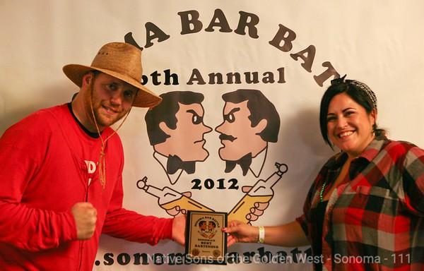 2012 Sonoma Bar Battle