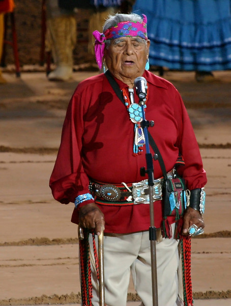 Zuni Elder providing invocation for ceremonies
