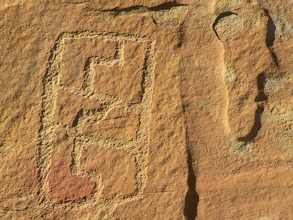 Petroglyphs in the Cebolla wilderness of western New Mexico.
