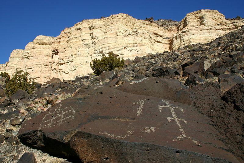 Petroglyphs near Santa Fe.