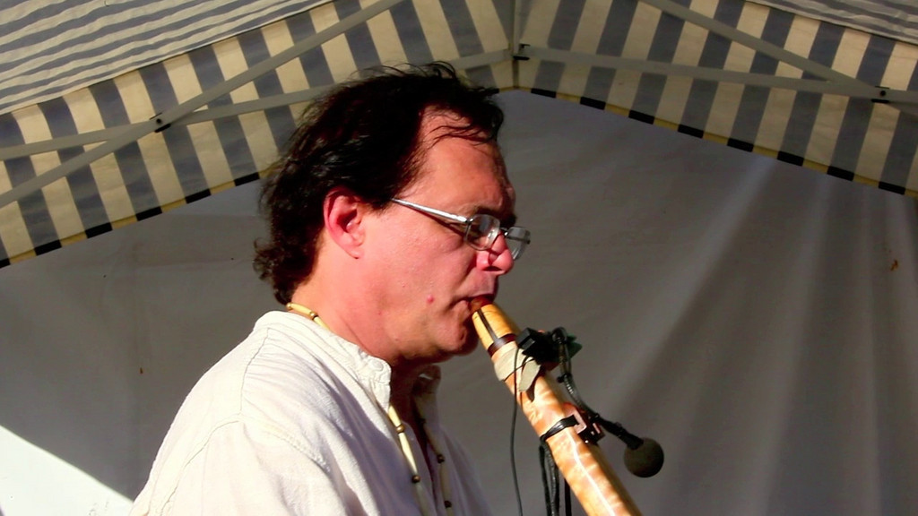 "Many thanks to Al Jewer for sharing his exquisite music with us at the 24th Indian Summer Festival. This Native American music is available on Mr. Jewer's CD-ROM ""PRAIRIE PLAIN SONGS"". You can go to his web-site at :   <a href=""http://www.AlJewer.com"">http://www.AlJewer.com</a>. For years he has participated at these festivals filling the ""Ring of Art"" with his beautiful soft sounds of the Native American spirit. For years we look forward to Al's music, and this year we bought two CD-ROM's of his music. There are CD-ROM covers posted in this video presentation for your pleasure and information. We have placed these CD-ROMs in our Car and on my iPod/iPhone4, for a very personal and pleasurable break from a busy day... Enjoy this Clip."