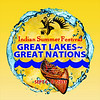 """Indian Summer Festival, 27th Annual event & Competition Pow Wow, 2013, September 6, 7, 8, at Henry Maier Festival Park, Milwaukee, WI, (Enjoy over 870 Images) : GREAT LAKES ~ GREAT NATIONS.   Indian Summer Festival Returns to the beautiful shores of Lake Michigan in Milwaukee to celebrate our 27th year as the largest Native festival of its kind in the country. Friday 4pm to Midnight, Saturday Noon to Midnight, Sunday 11am to 8pm,  September 6th, 7th, 8th, 2013.  The Great Lakes is a chain of inland lakes:  Lake Ontario, Lake Erie, Lake Huron, Lake Michigan, and Lake Superior — stretching from New York to Minnesota. Because they comprise such a large waterway, they have played a vital role in the lives and histories of Indian peoples who have resided along their shores for millennia. Most Indian groups living in the Great Lakes region for the last five centuries are of the Algonquian language family. This includes such present-day Wisconsin tribes as the Potawatomi, Menominee and Ojibwe.  Some tribes — such as the Stockbridge Munsee and the Brothertown — are also Algonquian-speaking tribes who relocated from the eastern seaboard to the Great Lakes region in the nineteenth century. The Oneida who live near Green Bay, belong to the Iroquois language group; and the Ho-Chunk of Wisconsin are one of the few Great Lakes tribes to speak a Siouan language.  Although there have been many differences in language and customs between different Indian tribes, Great Lakes Indian communities have had many things in common. They comprise a general culture called """"Woodland"""" after its adaptation to North America's northeastern and southeastern woodlands. Woodland Indian societies have depended to a large degree on forest products for their survival, and Great Lakes Indians hunted, fished, gathered wild foods, and practiced agriculture for their subsistence. In many parts of the Great Lakes — particularly northern Wisconsin — Indians depended on wild rice as a dietary staple, while Ind"""