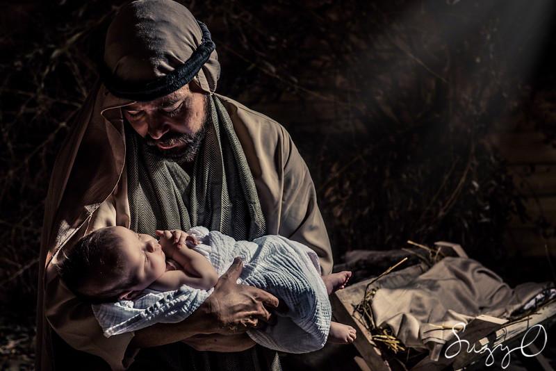 Joseph and baby Jesus - mirror image