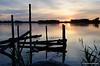Solnedgang ved Nyborg