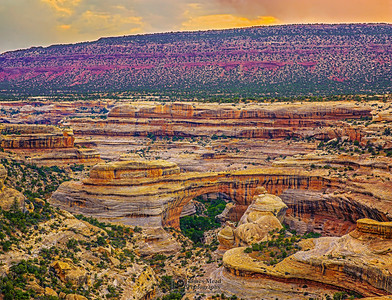 """Sunset over Sipapu Bridge,"" Natural Bridges National Monument, Utah"