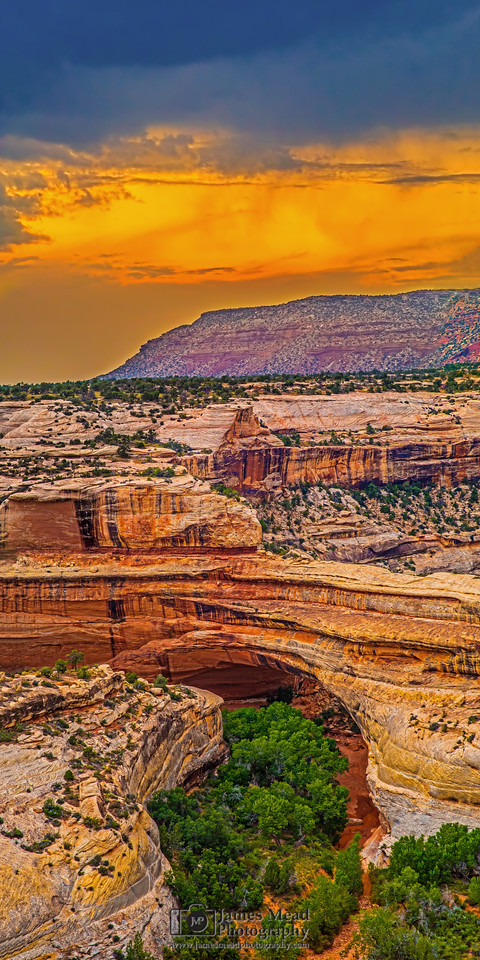 """Kachina Thunderstorm Sunset,"" Kachina Natural Bridge, Natural Bridges National Monument, Utah"