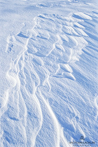 Wind Swept Snow Patterns, Ontario, Canada