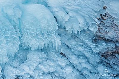 Ice deatils in Muskoka, Ontario, Canada