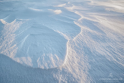 Windswept Snow Patterns, Thornton, Ontario, Canada