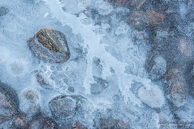 Ice and Stones, Muskoka River, Bracebridge, Ontario, Canada