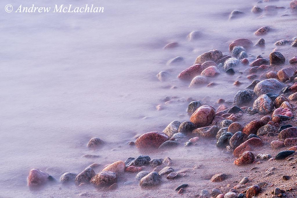 Wave Blur on Lake Superior Shoreline