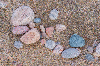 Wave polished stones, lake Superior Provincial Park, Ontario, Canada
