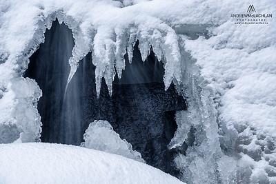 Winter River Details, Bracebridge, Ontario, Canada