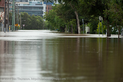 Brisbane Flooding, Victoria Street, Windsor, 12-13 January 2011; Queensland, Australia.