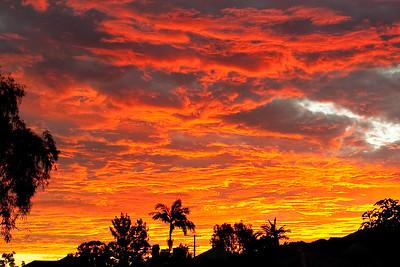 Sunset Brisbane 22 January 2010