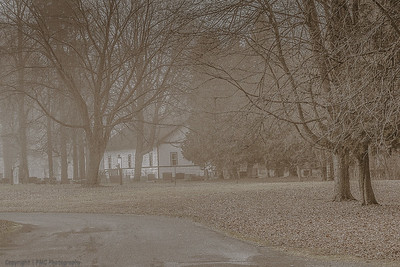 """Church in the Wildwoods"" and the fog, South Glengarry Twp"