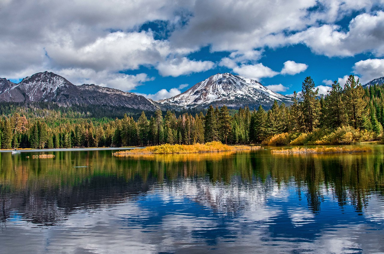 Manzanita Lake Loves Lassen Peak