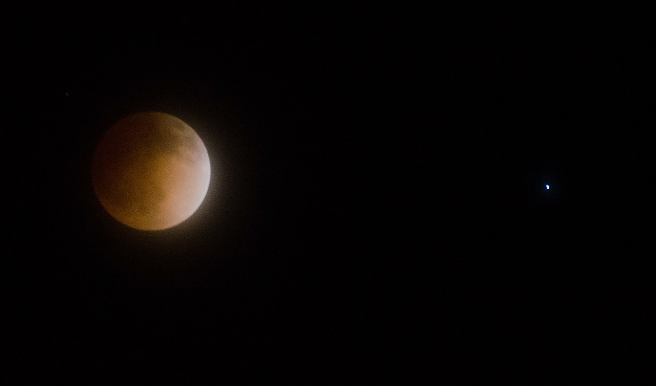 Blood Moon and Spica