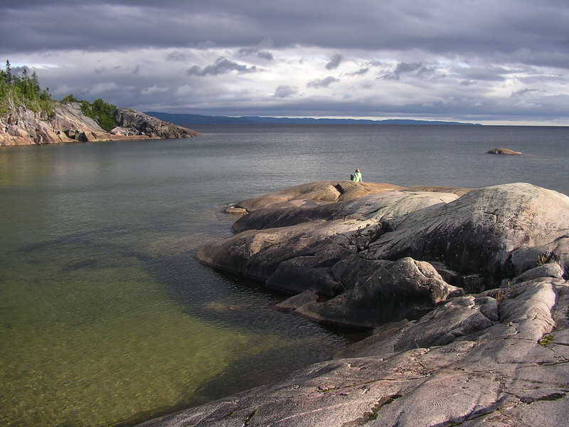 One of the inlets where we camped on the North shore of Lake Superior on the Way to Denison Falls.